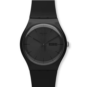 Black SUOB720 swatch watch water resistant date